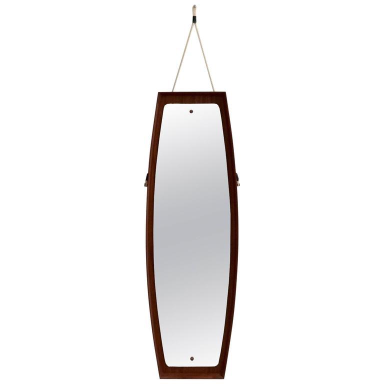 Large Italian Teak Dressing Mirror, 1960s
