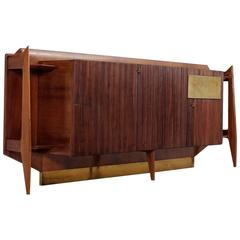 Italian Sideboard in Rosewood with Brass Details