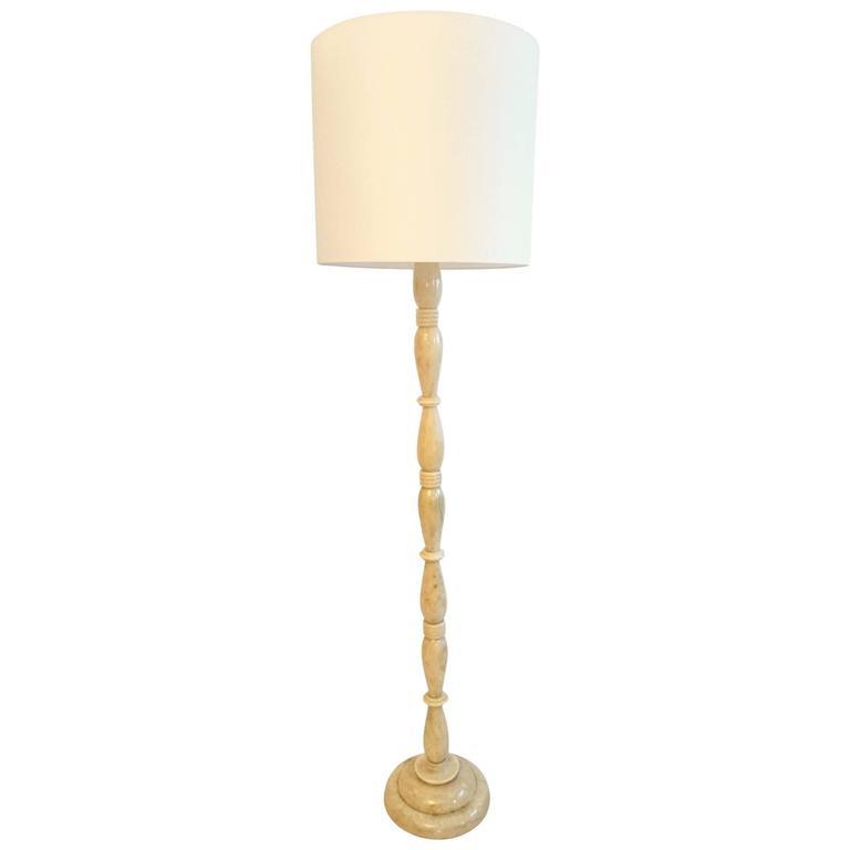 Italian Art Deco Onyx Floor Lamp For Sale