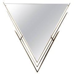 Curtis Jere Brass-Framed V-Shaped Mirror