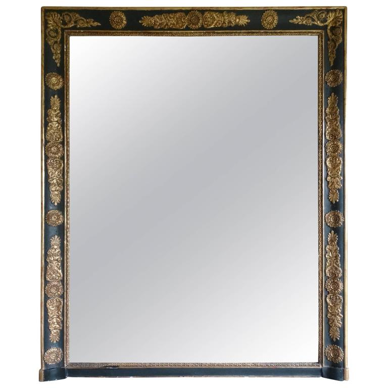 19th century empire style french antique mirror at 1stdibs for Vintage floor length mirror
