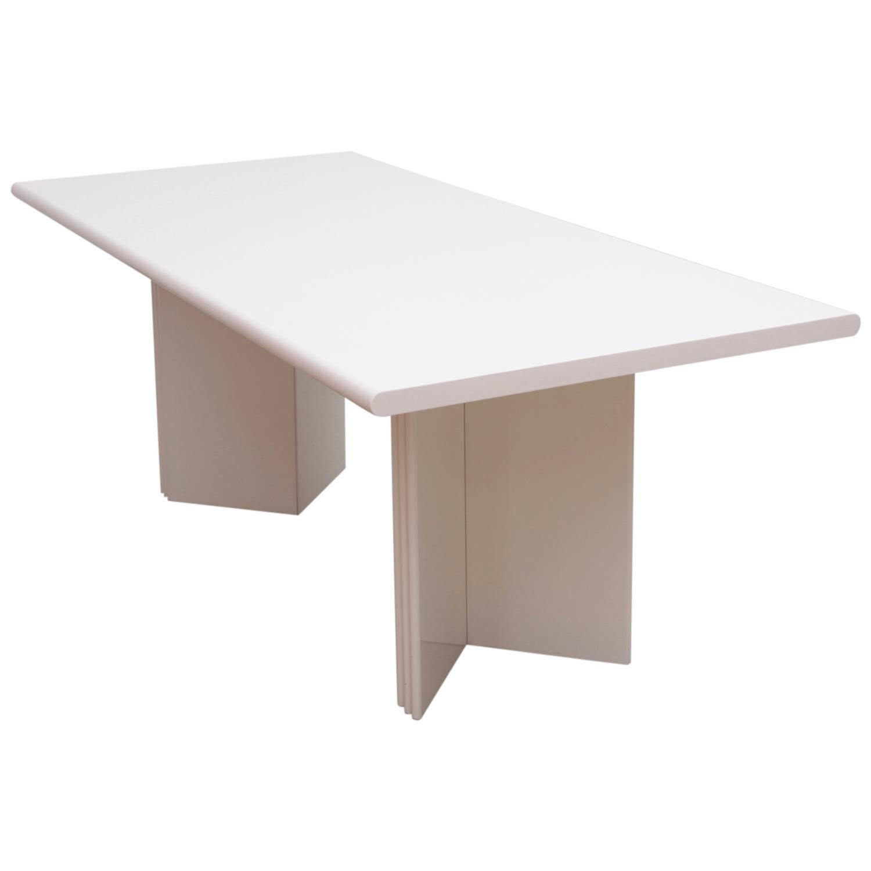 "Rare White Kazuhide Takahama ""Olinto"" Dining Table Italy 1965"