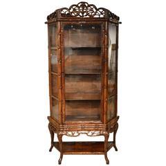 Chinese Hardwood Antique Display Cabinet