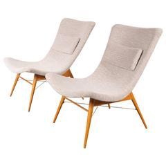 Set of Two Easy Chairs by Miroslav Navratil for Cesky Nabytek, 1959