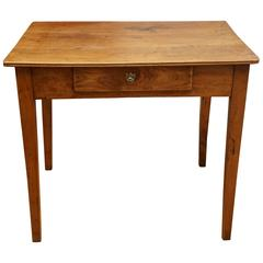 Small End Table with Lock and Key