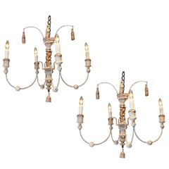 Pair of Small French Chandeliers