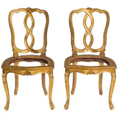 Giltwood Florentine Side Chairs