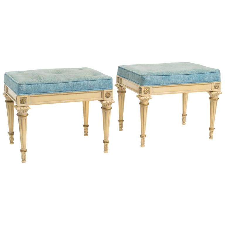 Pair of Regency Style Footstools
