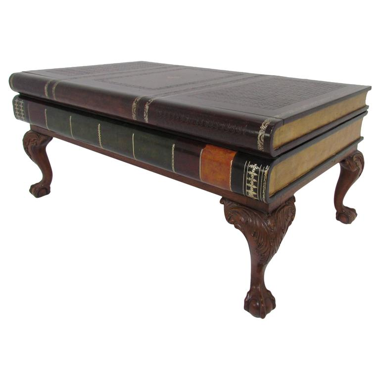 Maitland Smith Stacked Leather Book Form Coffee Table For