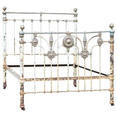 Victorian Bed with Sunflower Rosettes, MU31