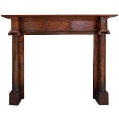 Charleston Cypress and Heart Pine Mantel With Starburst Motif. Circa 1800