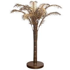 Arthur Court Brass Palm Tree