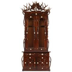 Black Forest, German or Austrian, Two-Piece Gun Cabinet