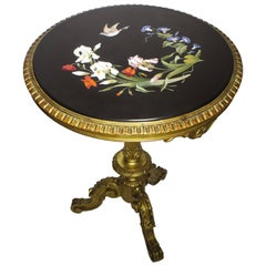 Very Fine Italian 19th Century Florentine Pietra Dura Inlaid Table
