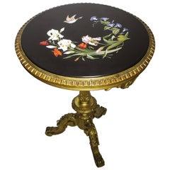 Very Fine Italian 19th Century Florentine Pietra Dura Inlaid Table