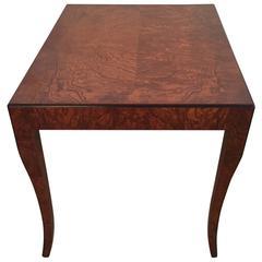 William Switzer Burled Maple Biedermeier Side Table
