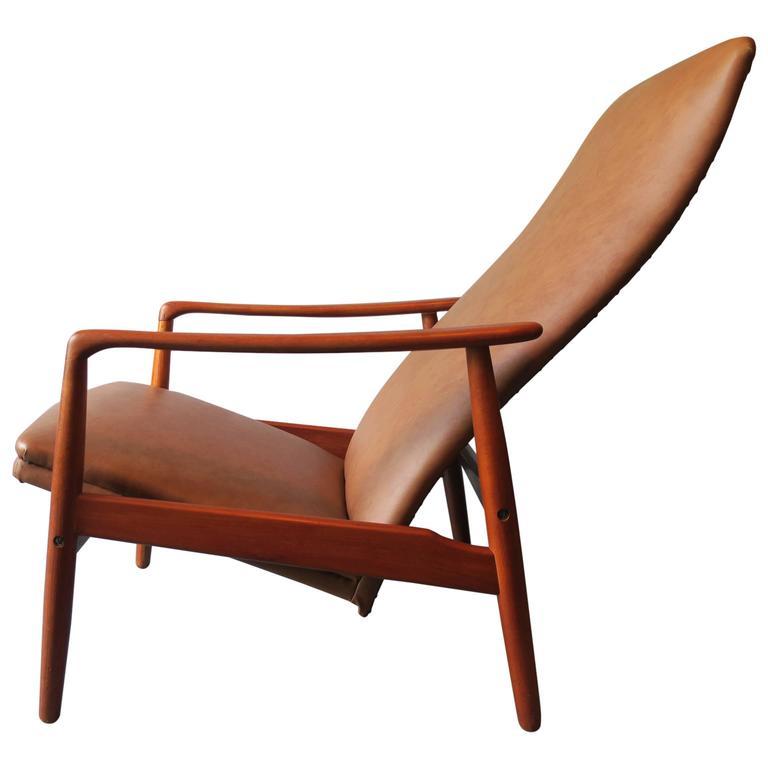 Groovy Danish Teak Adjustable Two Position Reclining Lounge Chair Short Links Chair Design For Home Short Linksinfo