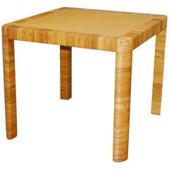 Bielecky Bamboo and Rattan Basket Weave Dining Breakfast Table