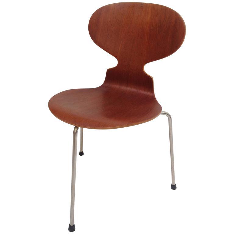 1960s arne jacobsen ant chair for fritz hansen denmark at 1stdibs. Black Bedroom Furniture Sets. Home Design Ideas