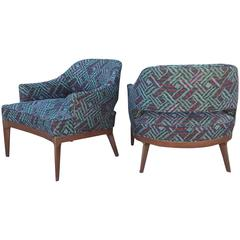 Pair of Low Lounge Chairs with Curves Harvey Probber