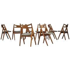 Hans Wegner CH29 Chairs Set of Eight
