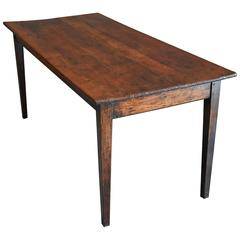 "French 19th Century Fruitwood ""Cherry"" and Elm Farmhouse Table"