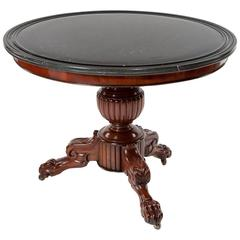 Quality Antique Mahogany Marble-Top Gueridon