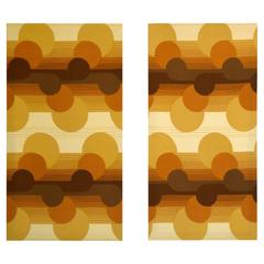 1960s Op Art Wall Covering Panels by Three by Danes