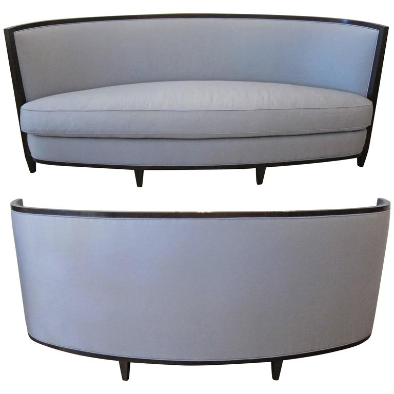 pair of crescent moon sofas by andree putman at 1stdibs