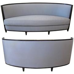 Pair of Crescent Moon Sofas by Andree Putman
