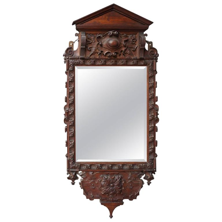 Victorian Carve Oak Mirror in the Georgian Taste 1