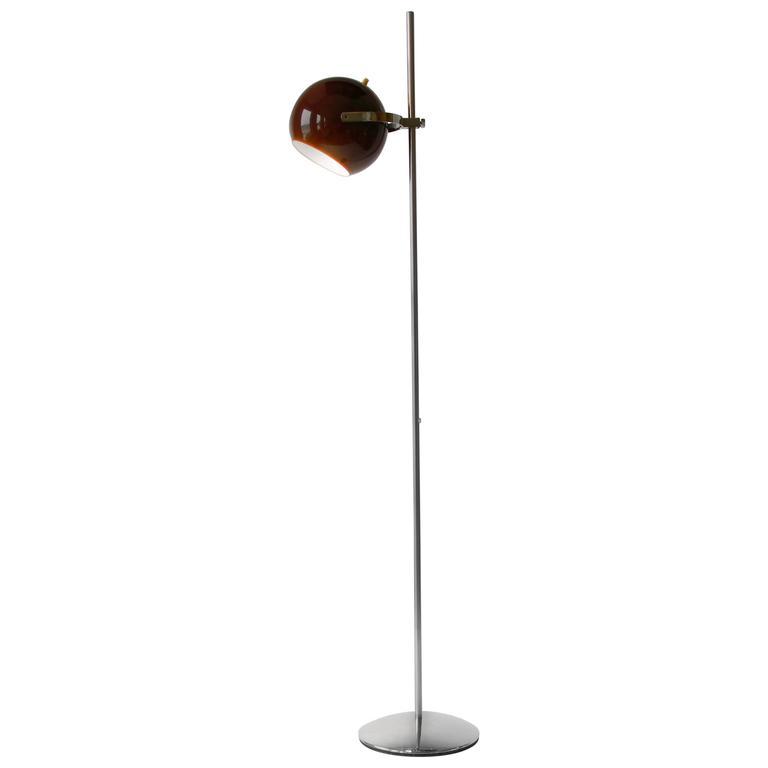 Reggiani Dark Brown Eyeball Floor Lamp, 1960s, Italia For Sale at ...