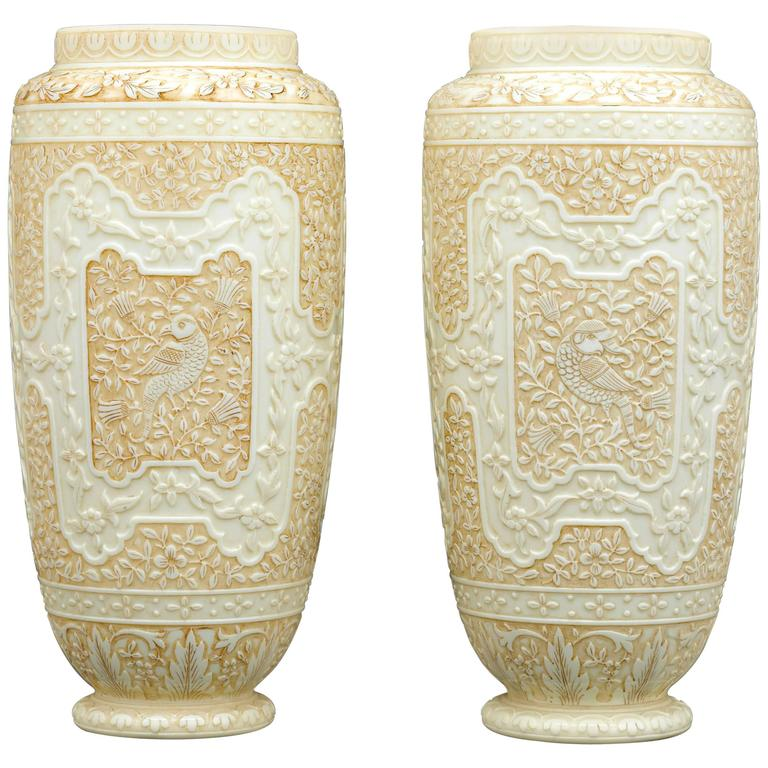 Cameo Glass Vases by Webb  For Sale