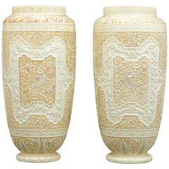 Cameo Glass Vases by Webb