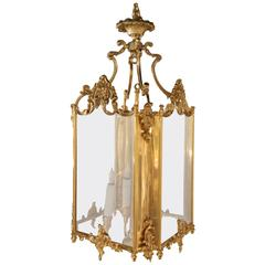 Bronze Louis XV Style Four Light Hall Lantern, Late 19th Century