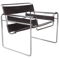 Vintage Marcel Breuer Wassily Chrome and Leather Chair