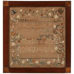 Handsome New Hampshire Sampler Dated 1805