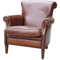 American Period Art Deco Leather Club Chair