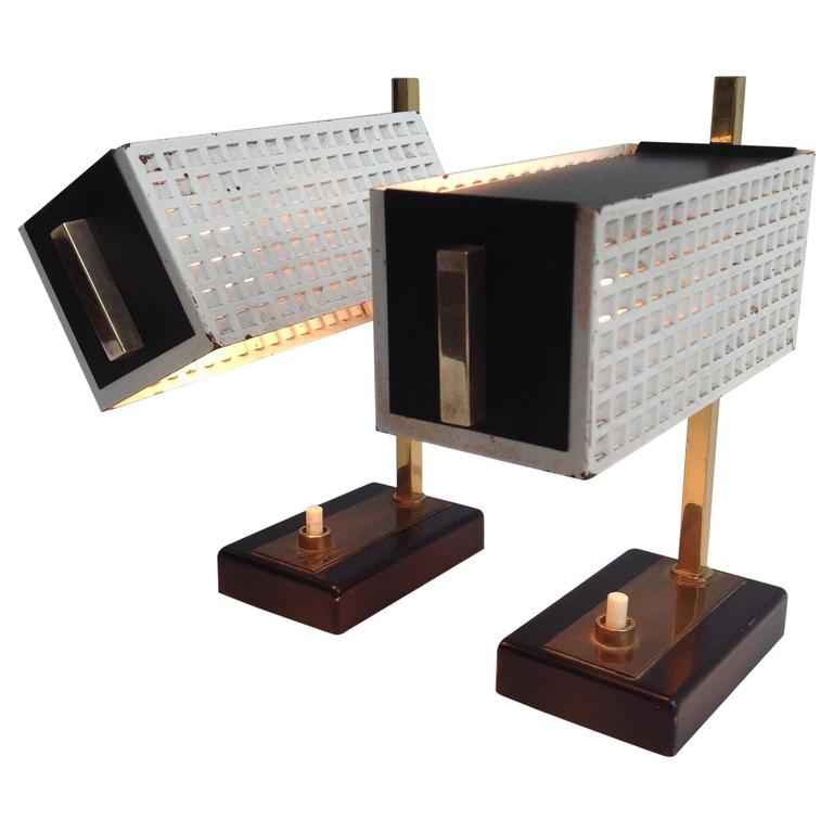 Two Small And Very Nice Night Table Lamps In The Style Of