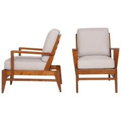 René Gabriel Pair of Armchairs, circa 1950