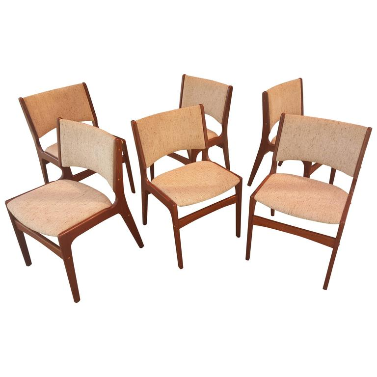 set six danish modern rosewood dining chairs at 1stdibs
