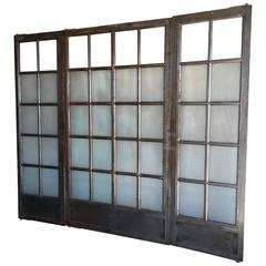 Set of Five Vintage Steel Doors