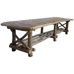 20th Century American Rustic Bench/Coffee Table