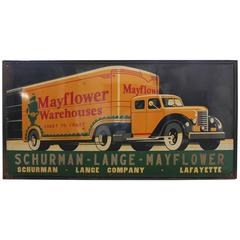 Large American Art Deco Truck Moving Company Sign