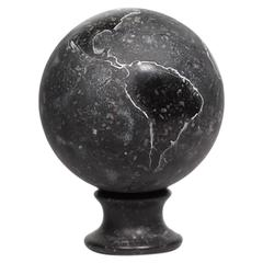 Carved Marble World Globe