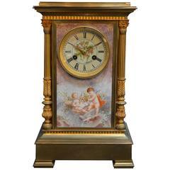 19th Century French Gilt Bronze Mantel Clock