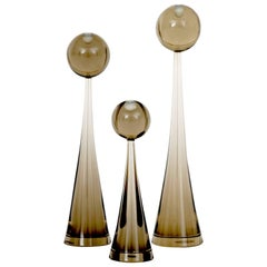 Luciano Gaspari Set of Three Murano Glass Sculptures