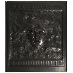 Elihu Vedder American Renaissance Cast-Iron Fireback, circa 1882