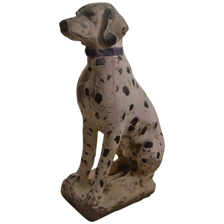 Cement Dalmatian Garden Statuary At 1stdibs