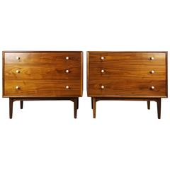 Pair of Walnut Chests by Kipp Stewart